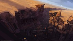 Desert Canyon by artbymatthew