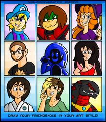 DRAW YOUR FRIENDS AND OCS IN YOUR ART STYLE! by FaisalAden