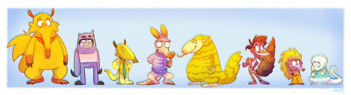 Anteaters by vaporotem
