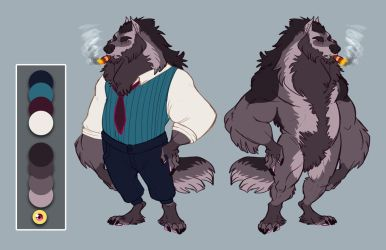 Commission: Wolf character design by Earthsong9405