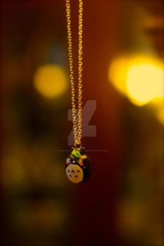 Totoro Charm Necklace by TheSaltyMonster