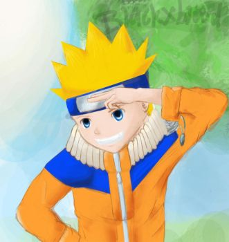 Naruto at ur service by BlackxBlood