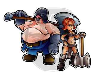 Simply Fat: The Executioner and Valkyria (CR) by LordFFParaPhilum