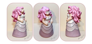 Commission: Rose Quartz Sculpture 2 by Arnne