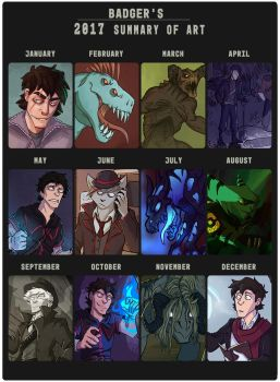 2017 Art Summary by QuietBadger