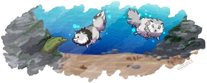 Tokotas diving for fluffy 2 by cheetahtrout