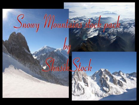 snowy mountains picture stock by ShusikStock