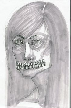 self portrait drawing 1 by hinstarsion