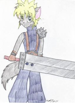 Cloud the Wolf - Chaotic Kyubi by FinalFantasyClub