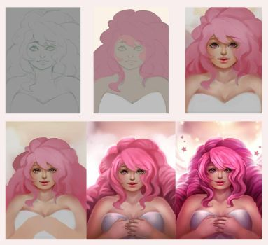 [Step by Step] Rose Quartz by Riktockhi