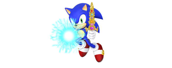 Sonic with Speed Force orb and Sword of Harmony 3D by SBoomSonicspeeder