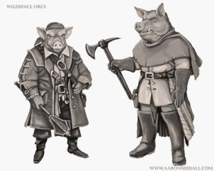 Wildspace Orcs by MythAdvocate