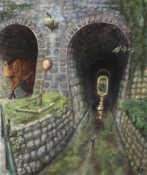 dunkle Tunnel, leises Gefluester by Polarhydra
