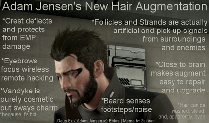 Adam Jensen's Hair Aug by lethe-gray