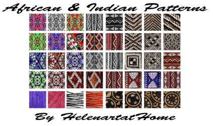 African and Indian Patterns by Helenartathome