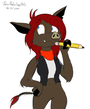 Candi the Wild Pig by JuacoProductionsArts