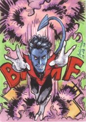 Sketch card - Nightcrawler by Ammosart