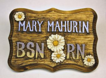 Hand carved sign by Switchum