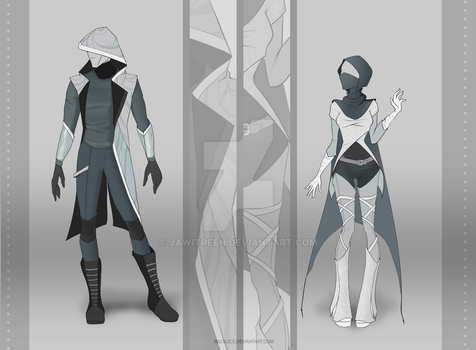 (CLOSED) Adoptable Outfit Auction 16 - 17 by JawitReen