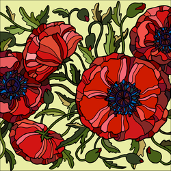 Veterans Day Poppies. by catdragon4