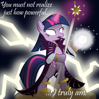 Twilight Sparkle Is Powerful by jrk08004