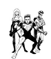 Youg justice inks by FabianCobos