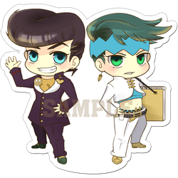 Josuke and Rohan by tehYurigiri