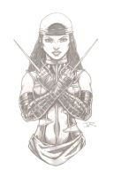 Elektra (pencils) by RevolverComics