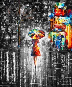 Rain Princess  Limited edition giclee by Leonidafremov