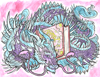 Bookwyrm lineart by rachaelm5, colors by moi by shaybee