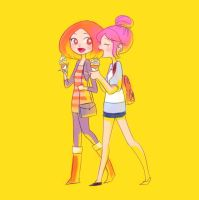 Friend and ice cream by Teh-O