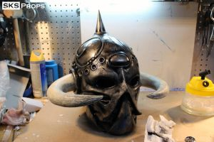 Frazetta Death Dealer Helmet WIP 15 SKS Props by SKSProps