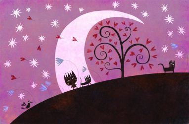 Under the purple moon by nicolas-gouny-art