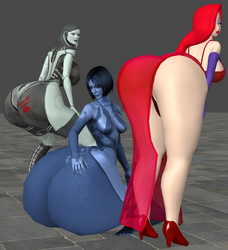 3 Big Booty Women by zoid162010