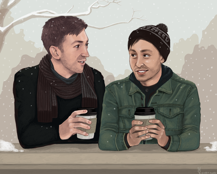 Better Together. (Keeping Warm in the Cold Winter) by girabbit