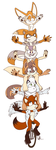 Commission: Vixens on Unicycles by Jammerlee