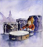 A little drummer girl by sanderus
