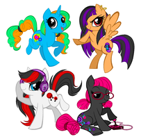 Techo Ponies by Polkadot-Creeper