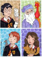 Harry Potter quad by beckadoodles