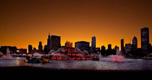 Buckingham Fountain Panaramic by dogeatdog5