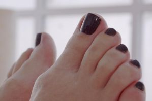 Rica's Sexy Toes in Dark Brown 2 by Feetatjoes