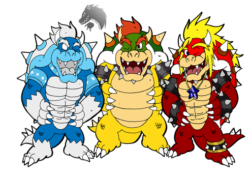 Commission: Winking koopas by Chibi-Tediz