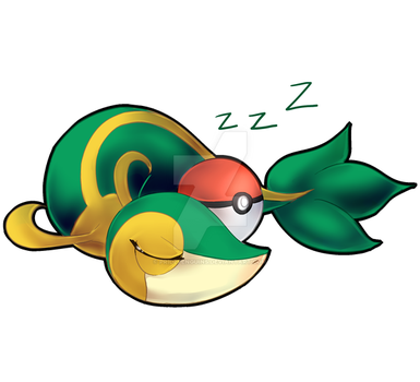 PKMN STICKERS: Snivy by PridePenguins