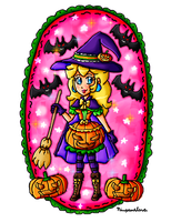 Pumpkin witch Peach by ninpeachlover