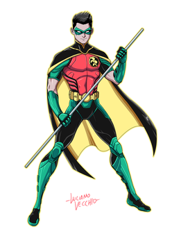 Red Robin Rebirth Digital Commission by LucianoVecchio