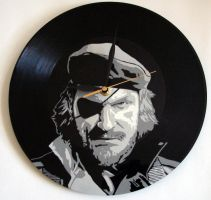 Big Boss on vinyl record by vantidus