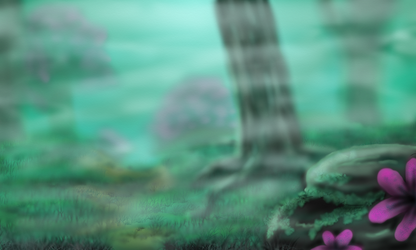 Misty Forest (free background) by shiverwings