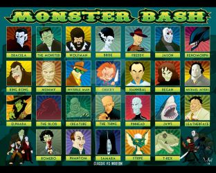 Monster Bash Lineup Closeup by WarBrown