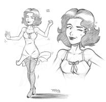 Lady Pin-up 1 - Sketch by johncastelhano