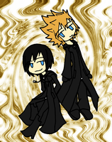 Roxas and Xion by shuzzy